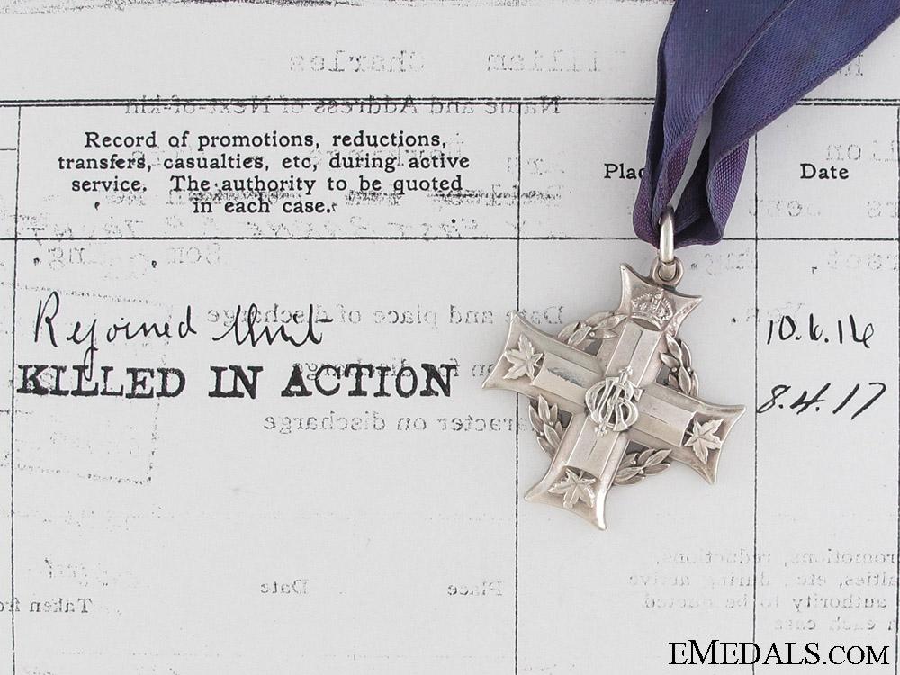 eMedals-A 13th Battalion Memorial Cross - April 8th 1917