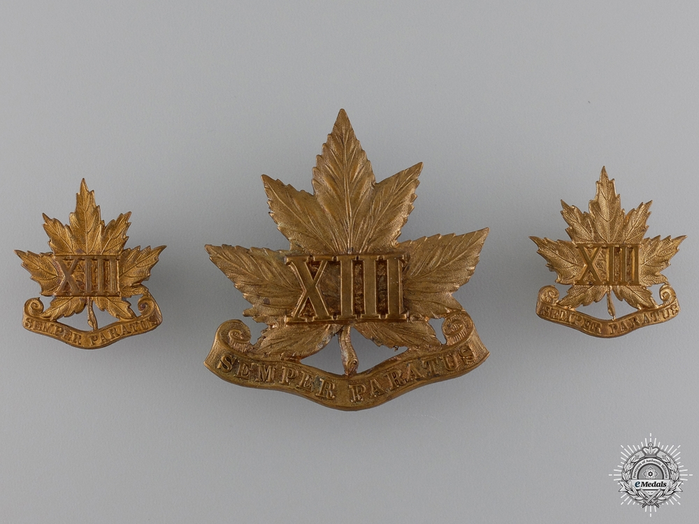 eMedals-A 13th Royal Hamilton Regiment Set