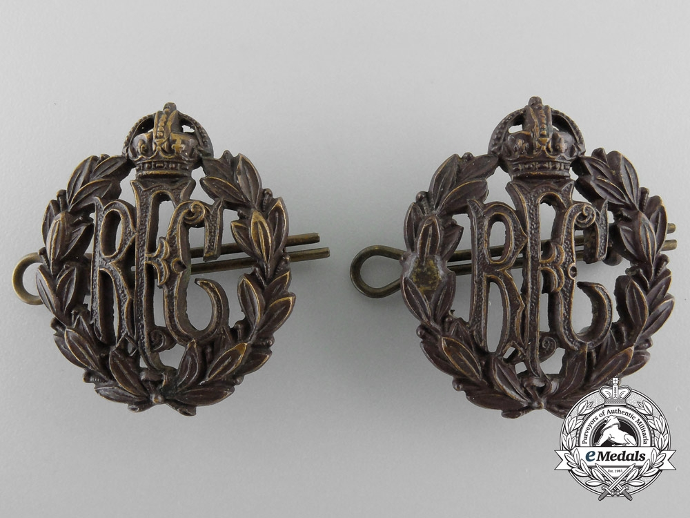 eMedals-A First War Pair of Royal Flying Corps (RFC) Collar Tabs