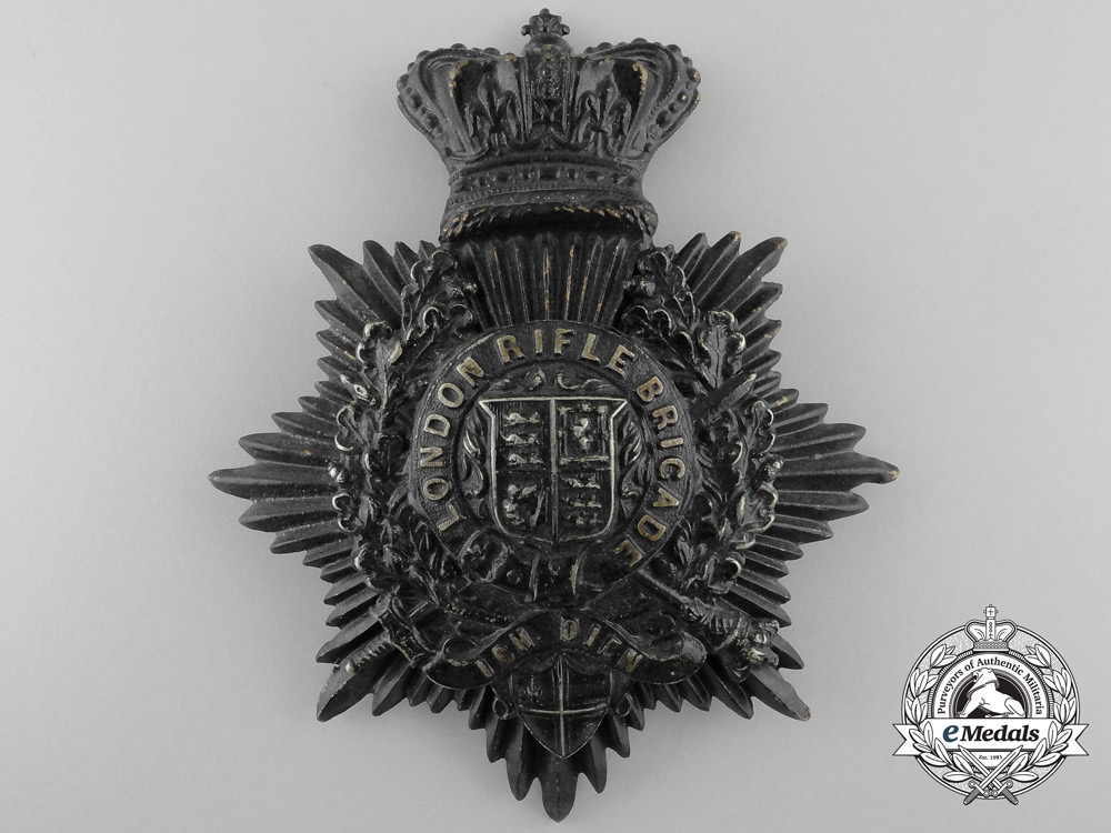 eMedals-A Victorian London Rifle Brigade Helmet Plate