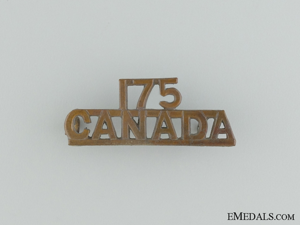 eMedals-A 175th Canadian Infantry Shoulder Insignia