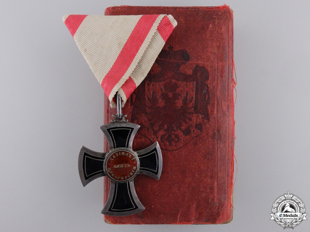 eMedals-A 1853-1861 Order of Danilo; Knight by Chabillon of Paris