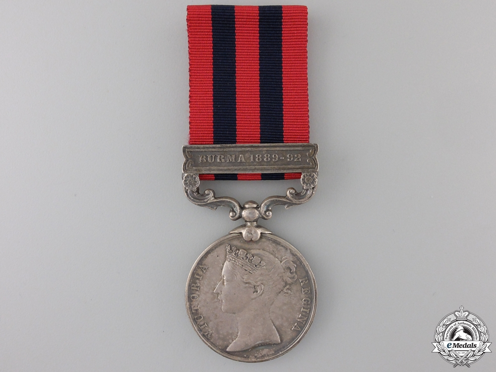 eMedals-A 1854-95 India General Service Medal to the 2nd Battalion Devonshire Reg.  Con #41