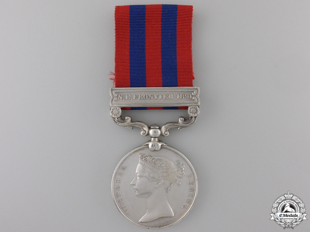 eMedals-A 1854-95 India General Service Medal to the King's Royal Rifle Corps   Con #41