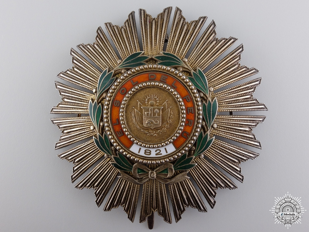 eMedals-A 1860 Peruvian Order of the Sun; Grand Cross