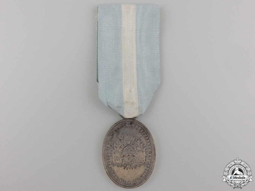 eMedals-A 1865 Argentinean Corrientes Medal; Silver Grade