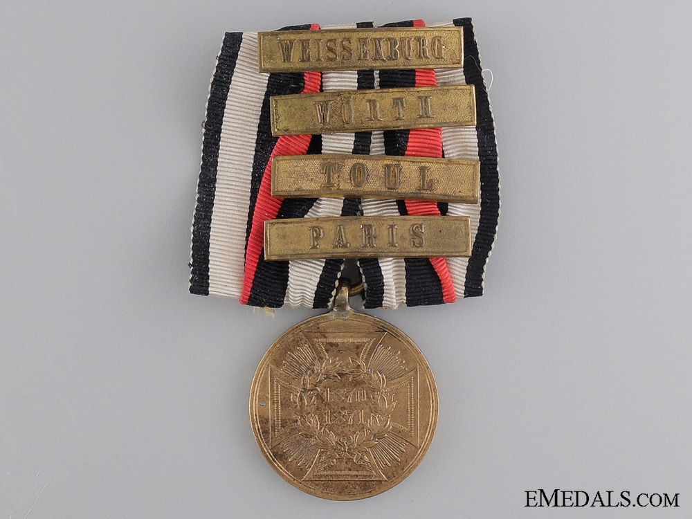eMedals-A 1870-1871 German War Merit Medal with Four Clasps