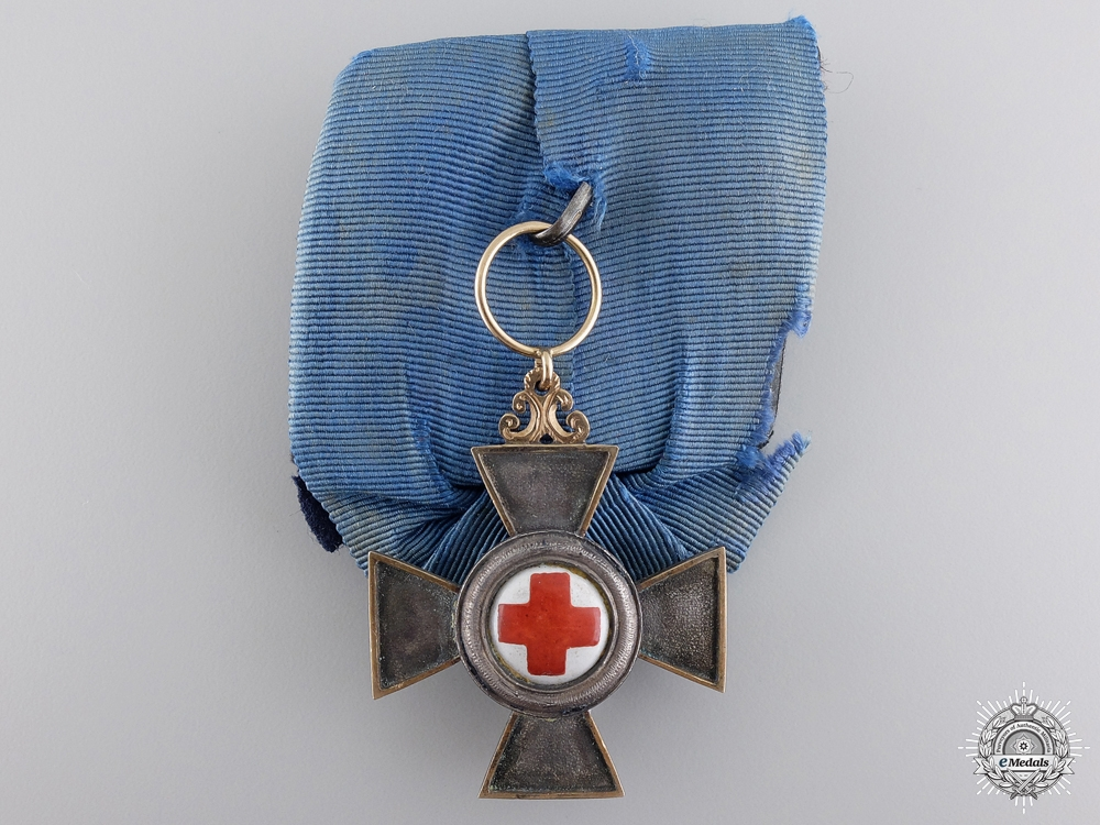 eMedals-An 1870-71 Bavarian Nursing Cross with Gold Frame