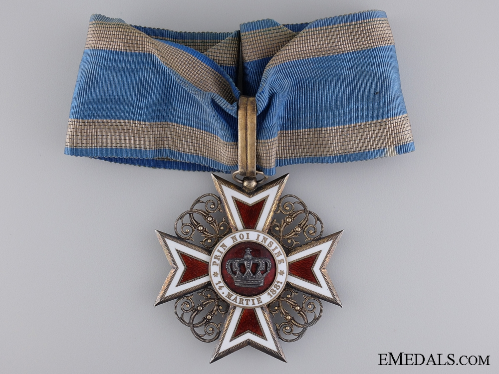 eMedals-A 1881-1932 Order of the Crown of Romania; 3rd Class