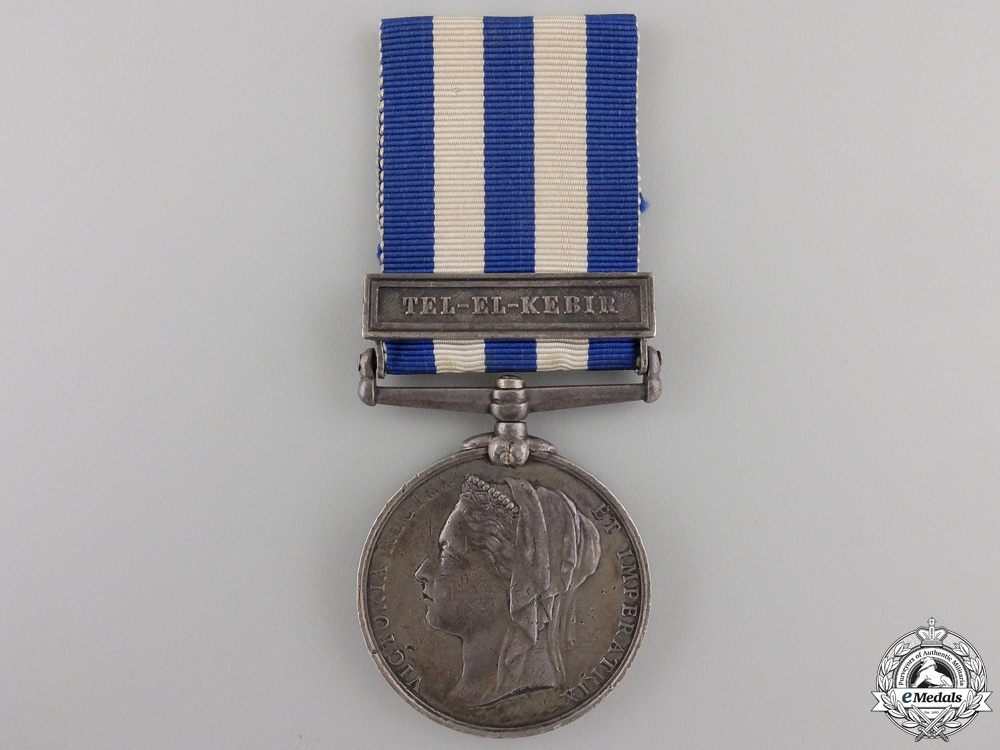 eMedals-A 1882-89 Egypt Medal to the 1st Brigade, Royal Artillery  Con #41