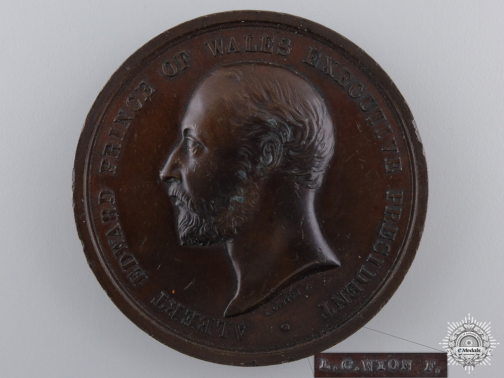eMedals-A 1886 British Colonial and Indian Exhibition Prize Medal by L.C.Wyon
