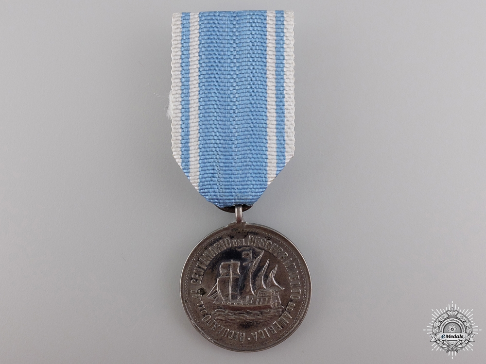 eMedals-A 1892 Argentinian Discovery of America Anniversary Medal