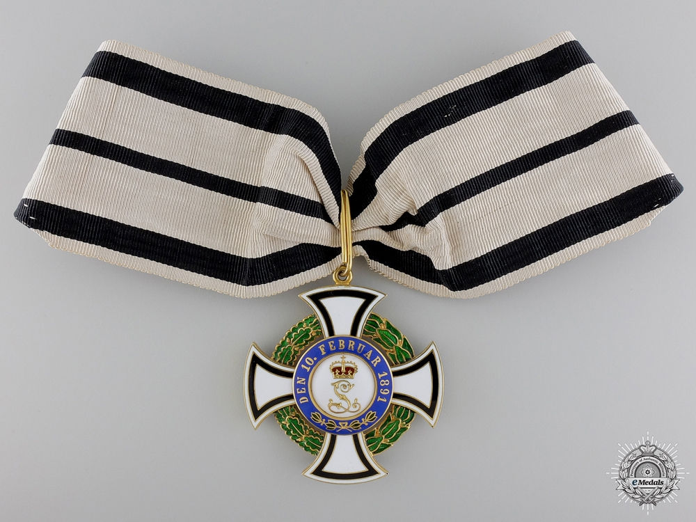 eMedals-A 1895-1900 House Order of Hohenzollern; Commanders Honour Cross