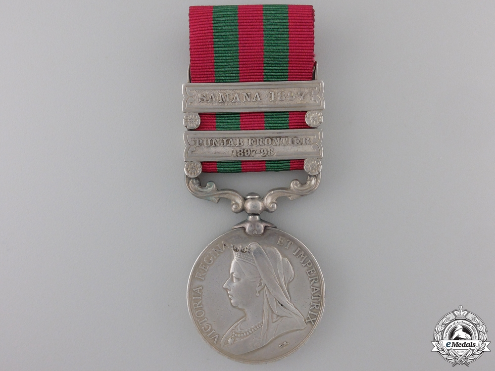 eMedals-A 1895-1902 India Medal to the 2nd Punjab Regiment Con#41