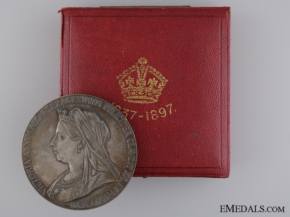 eMedals-A 1897 Diamond Jubilee of Queen Victoria Medal