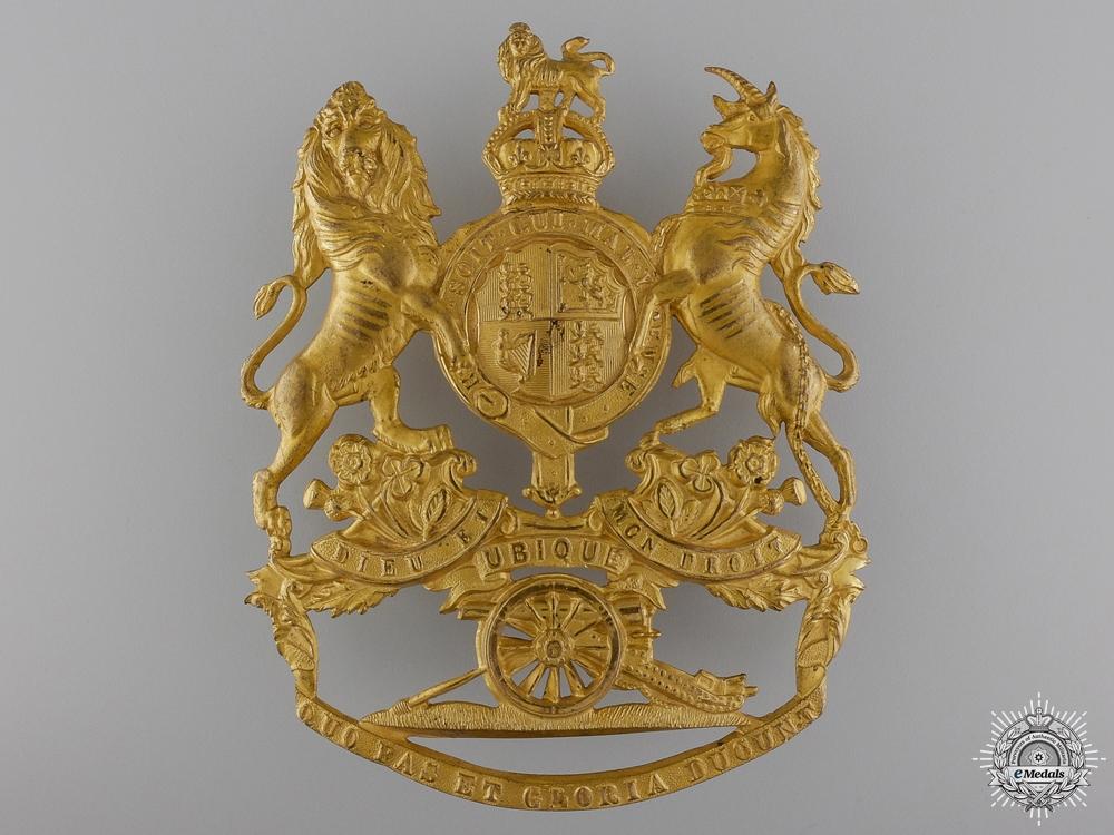eMedals-A 1902 Royal Artillery Officer's Helmet Plate