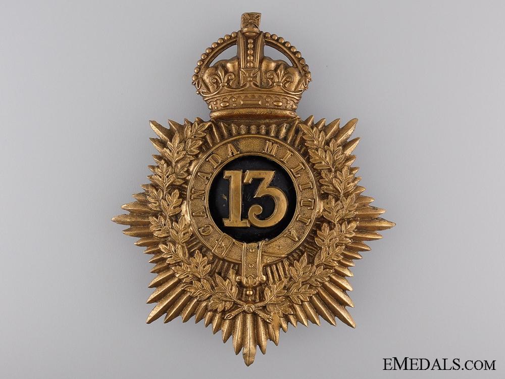 eMedals-A 1904 13th Canadian Militia Helmet Plate