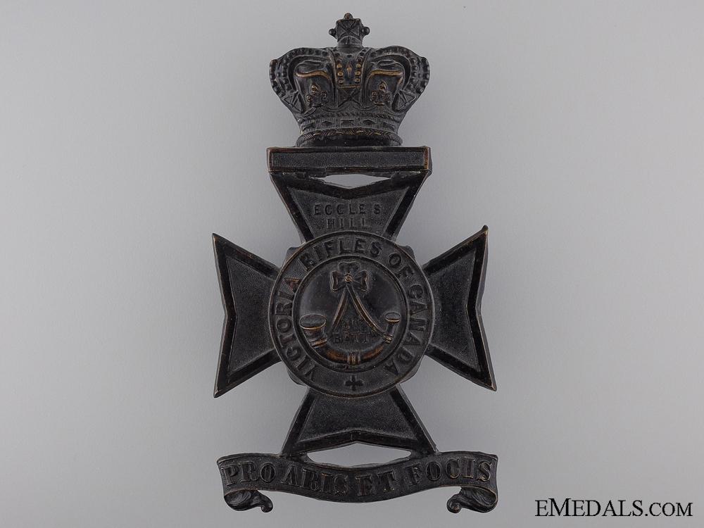 eMedals-A 1904 3rd Battalion Victoria Rifles of Canada Helmet Plate