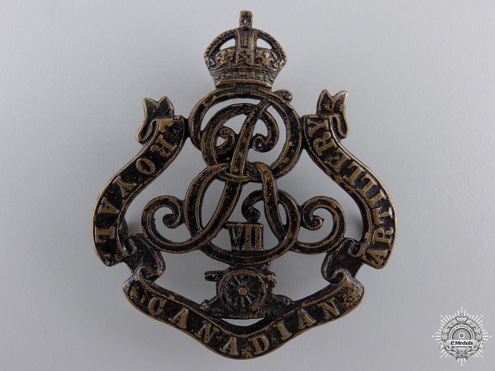 eMedals-A 1905 Royal Canadian Artillery Cap Badge