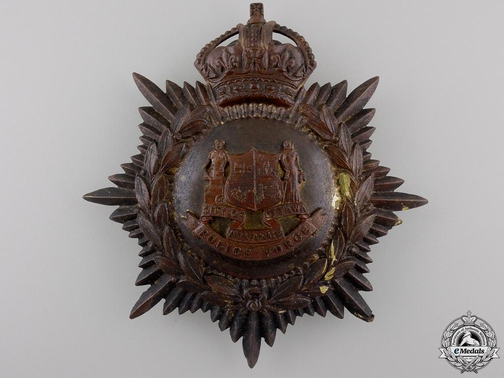 eMedals-A 1910 City of Ottawa Helmet Plate