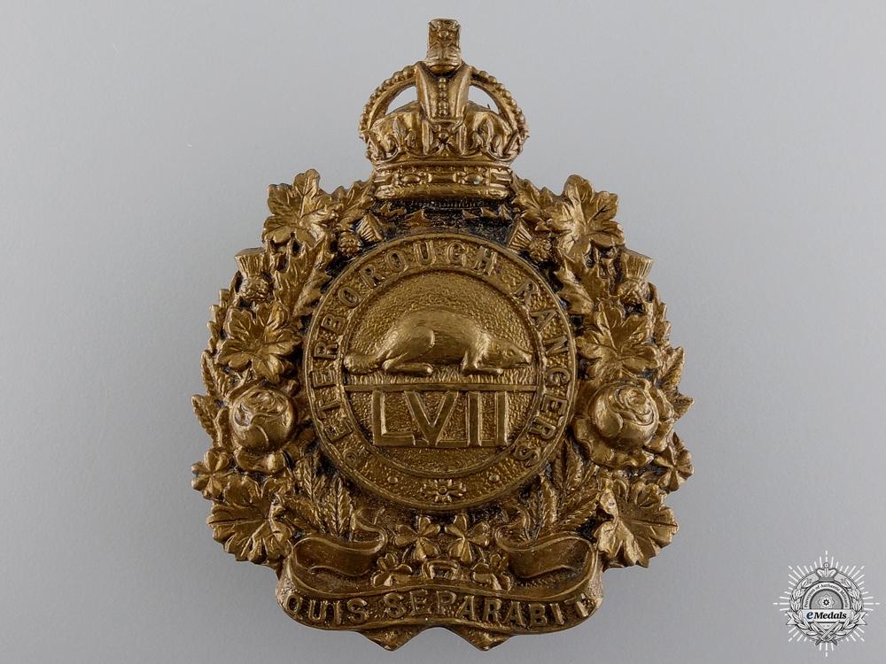 eMedals-A 1910 Peterborough Rangers Cap Badge