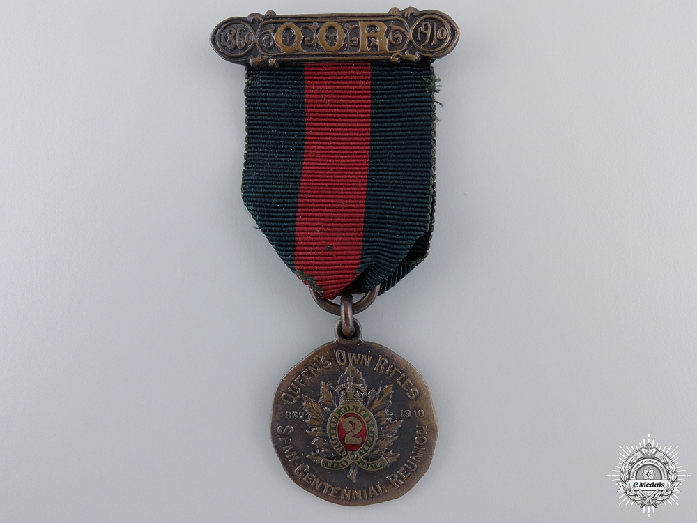eMedals-A 1910 Queen`s Own Rifles 50th Anniversary Medal   consignment 14