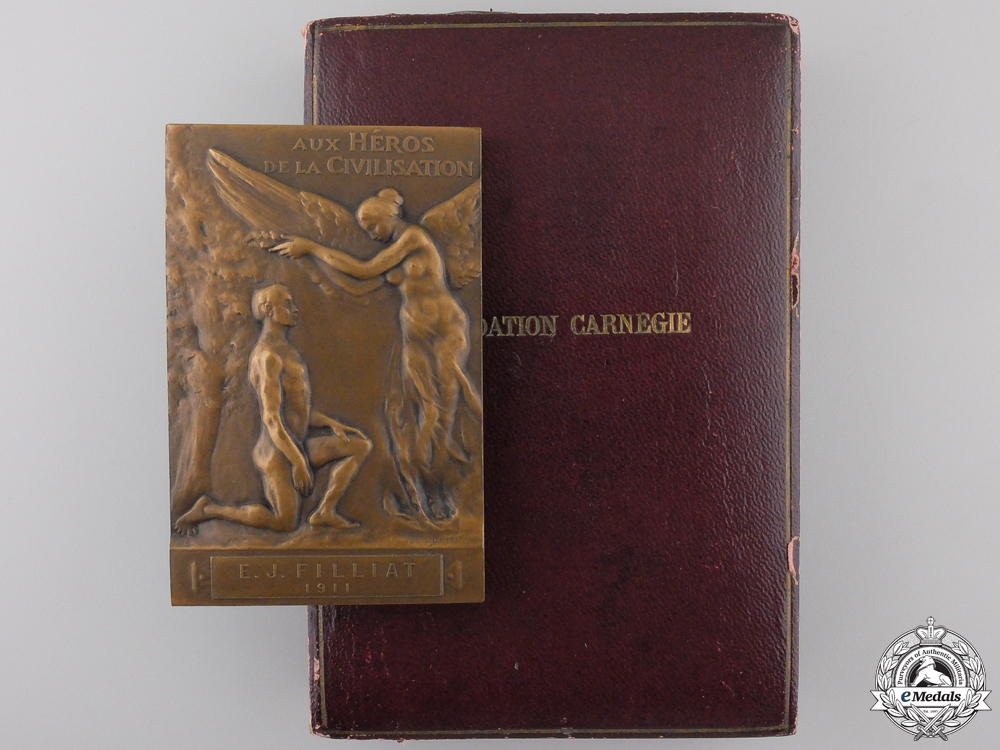 eMedals-A 1911 French Carnegie Foundation Medal