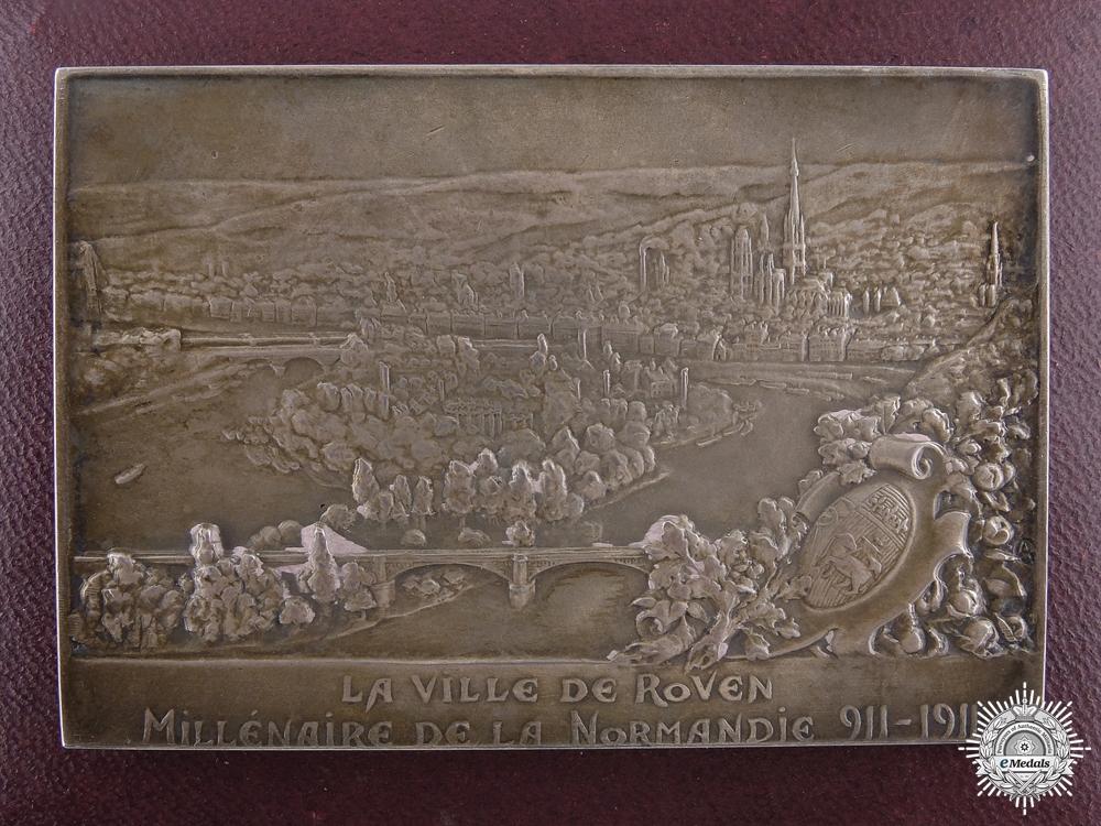 eMedals-A 1911 French La Ville De Rollon Silver Plaque