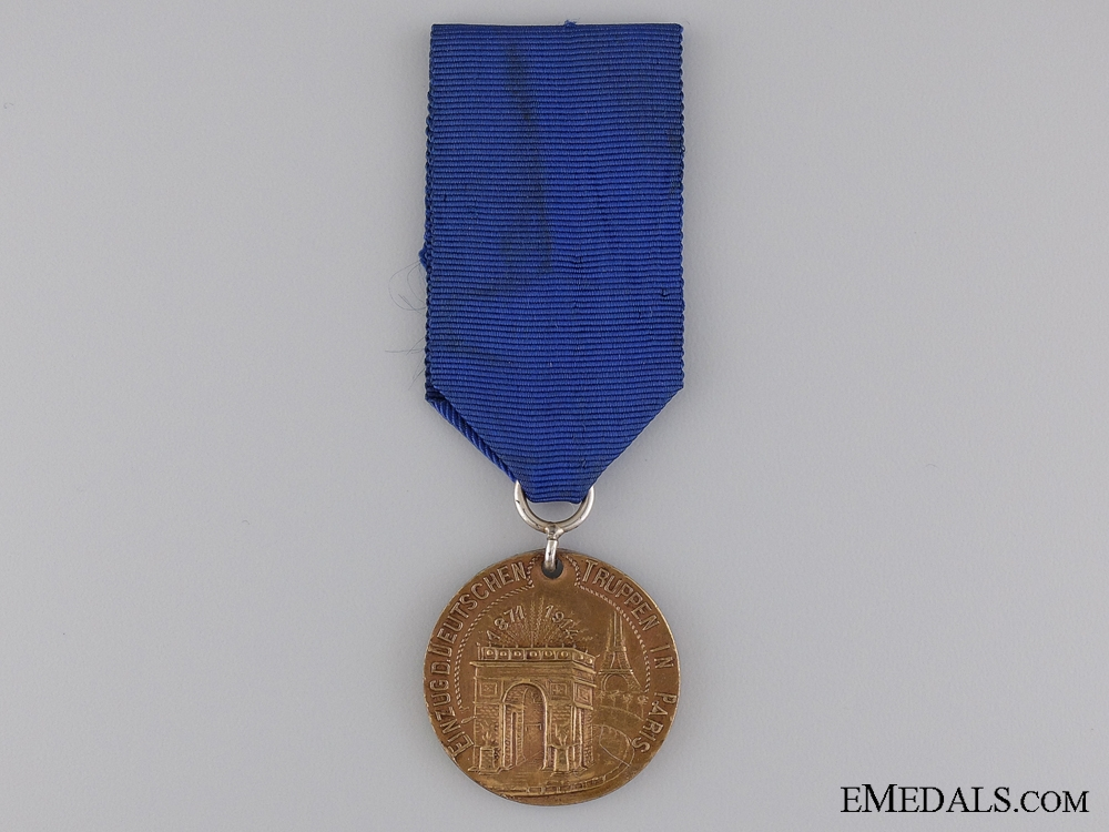 eMedals-A 1914 German Empire Entry into Paris Commemorative Medal
