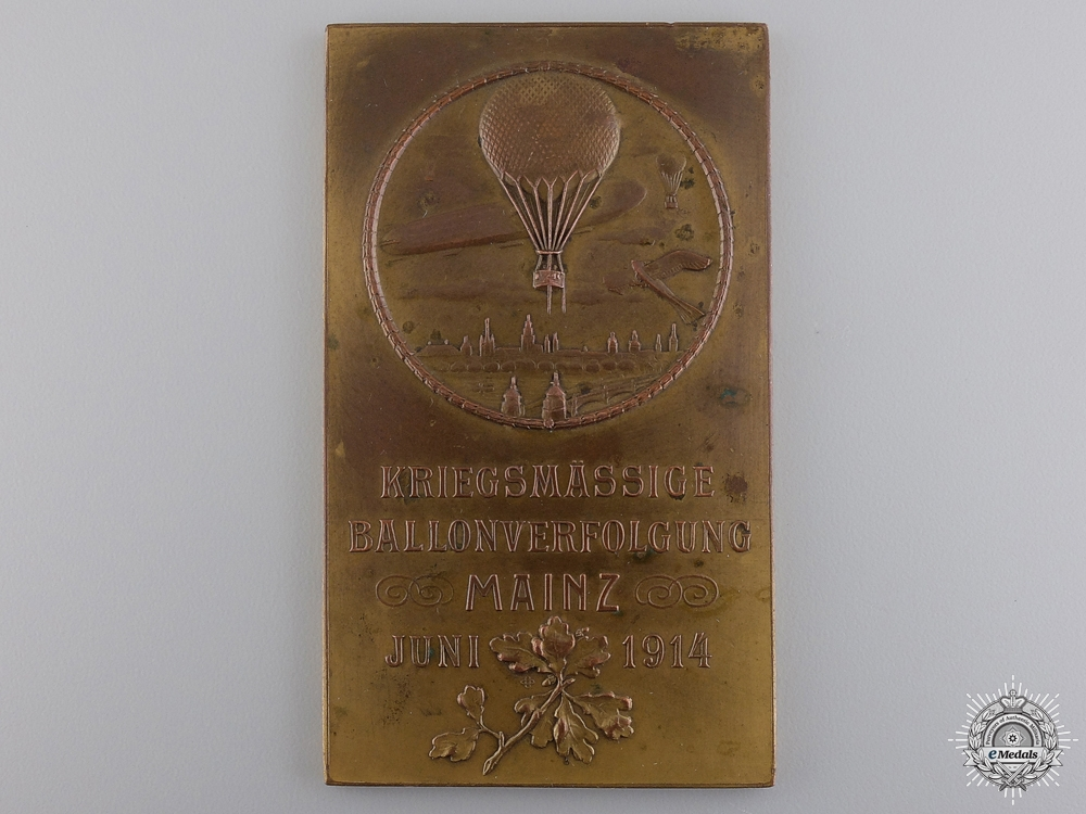 eMedals-A 1914 German Military Balloon Procession Medal