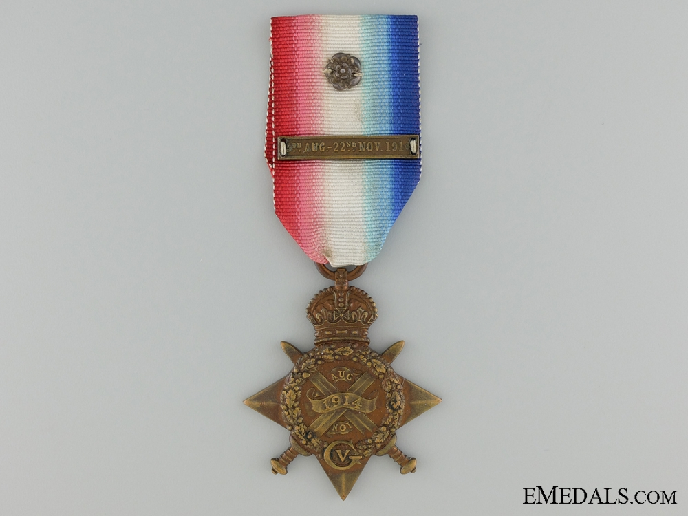 eMedals-A 1914 Mons Star with Bar & Rosette to the Royal Field Artillery