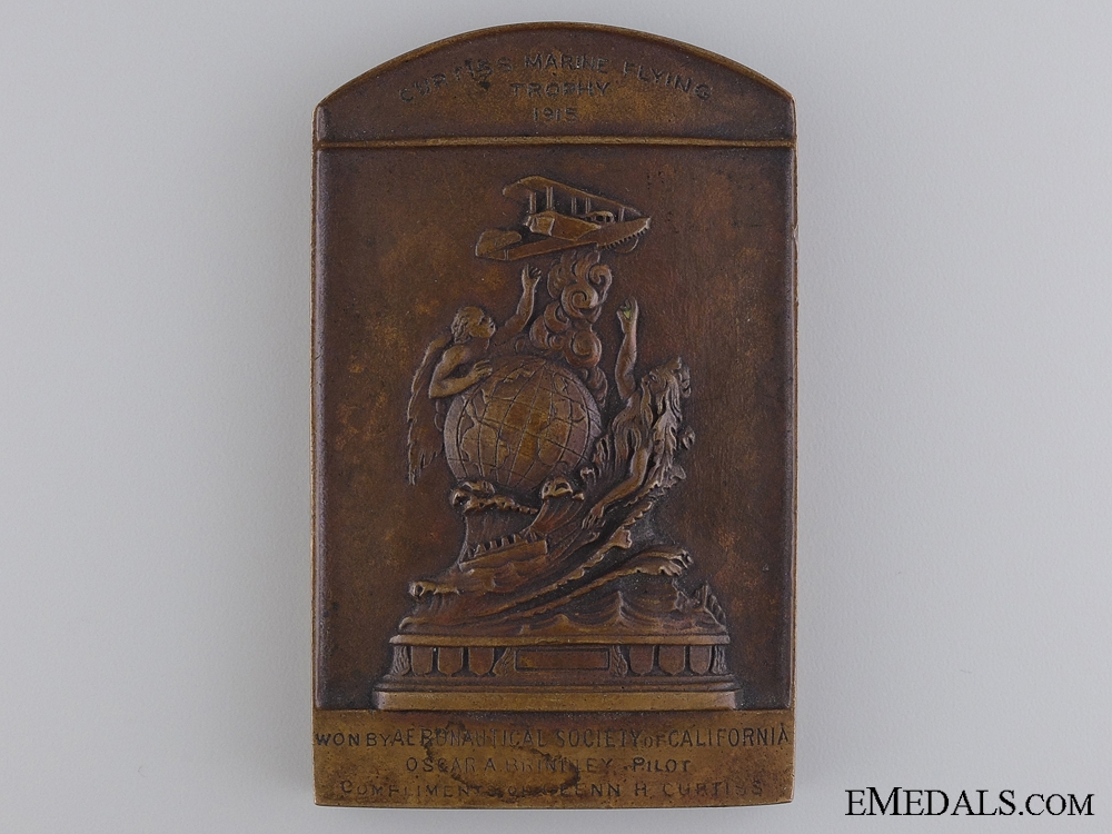 eMedals-A 1915 Curtiss Marine Flying Trophy Commemorative Medal