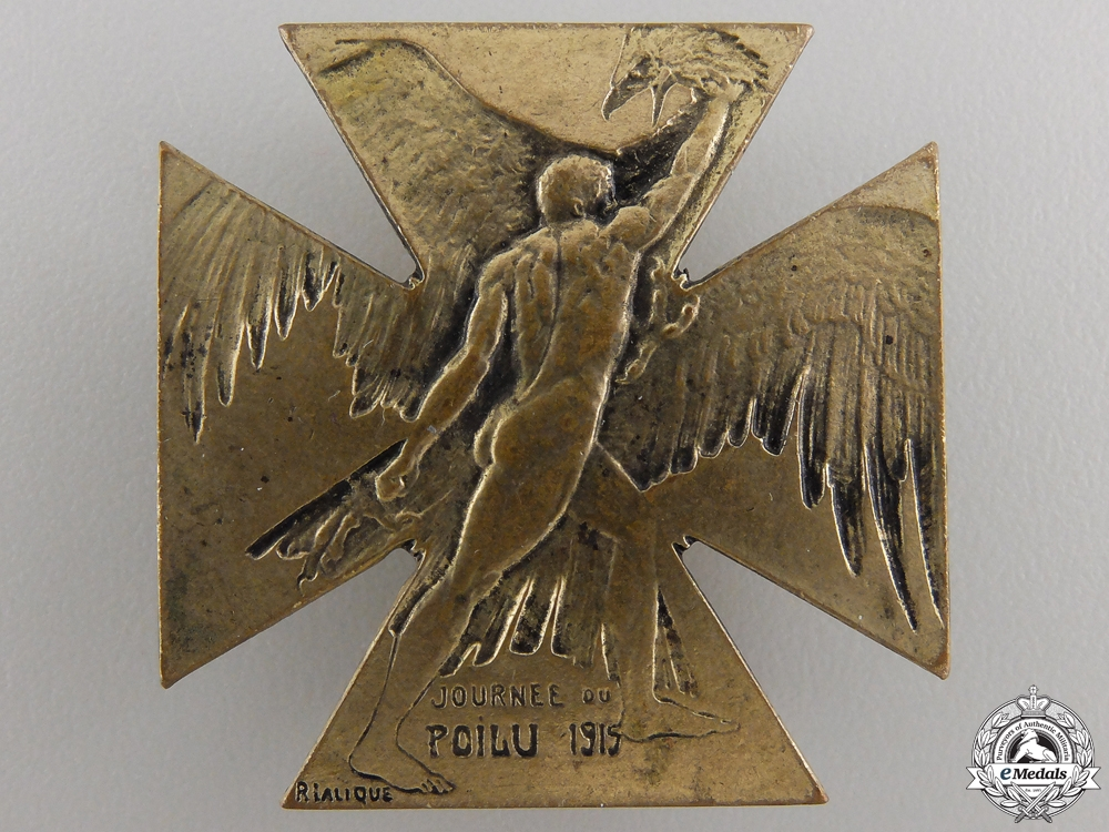 eMedals-A 1915 Lalique French Patriotic Badge
