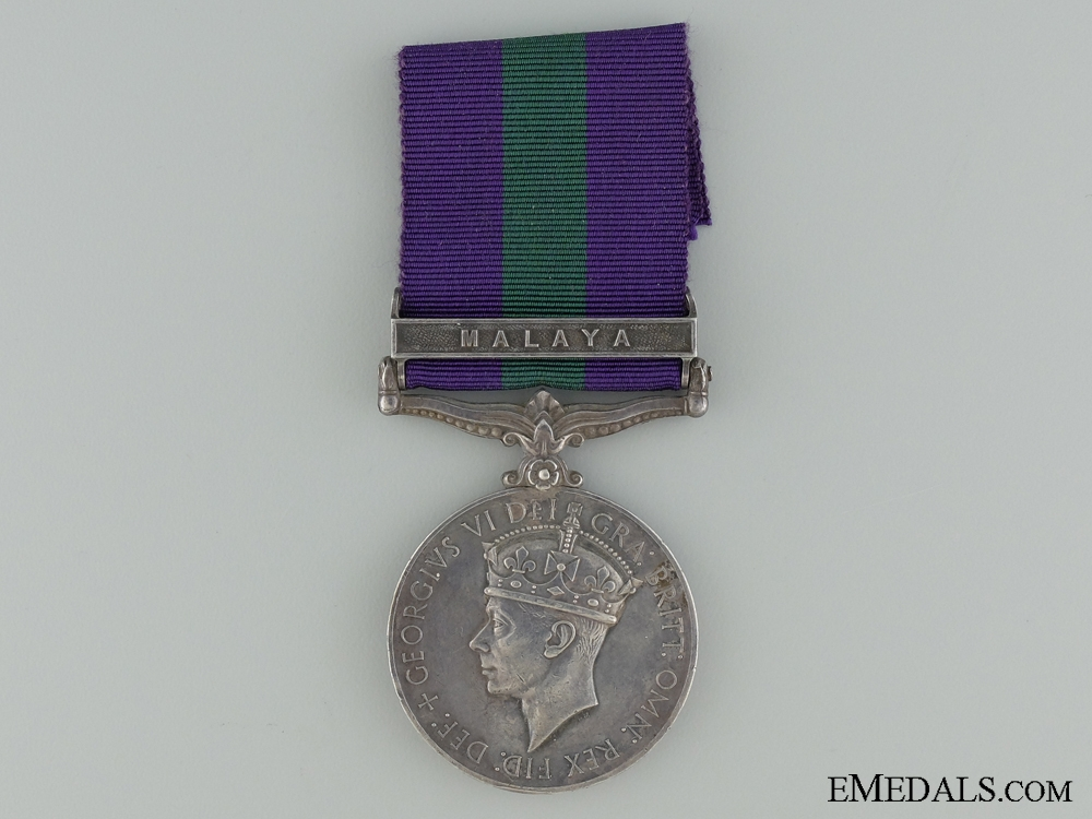 eMedals-A 1918-1962 General Service Medal to Pte K.A. Henry