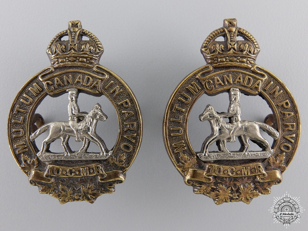 eMedals-A 1920-36 Manitoba Horse Officer Collar Badges