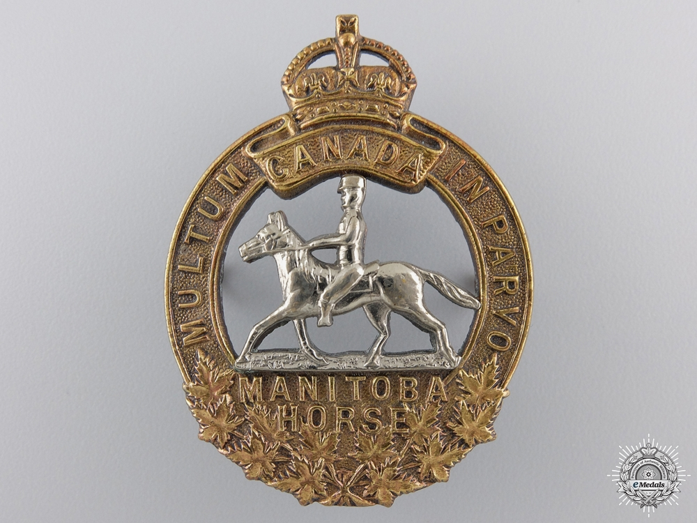 eMedals-A 1920-36 Manitoba Horse Officer Cap Badge