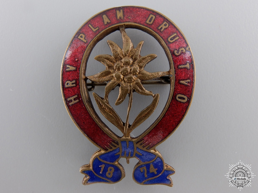 eMedals-A 1920 Croatian Alpine Organization Badge
