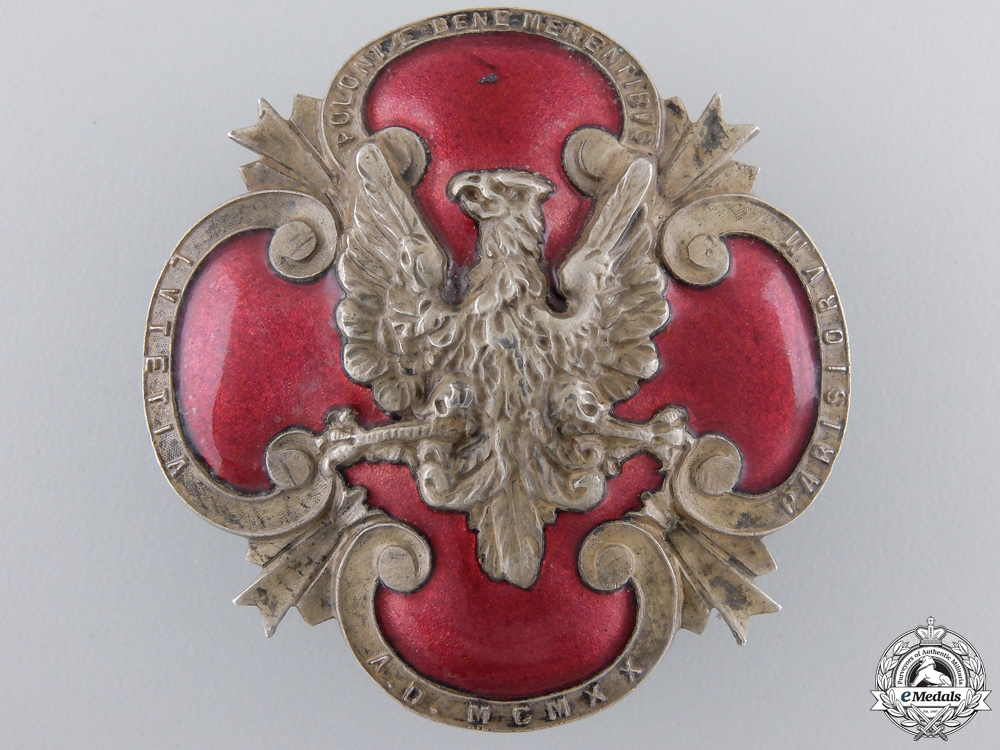 eMedals-A 1920 Polish Plebiscite Zone Forces Badge