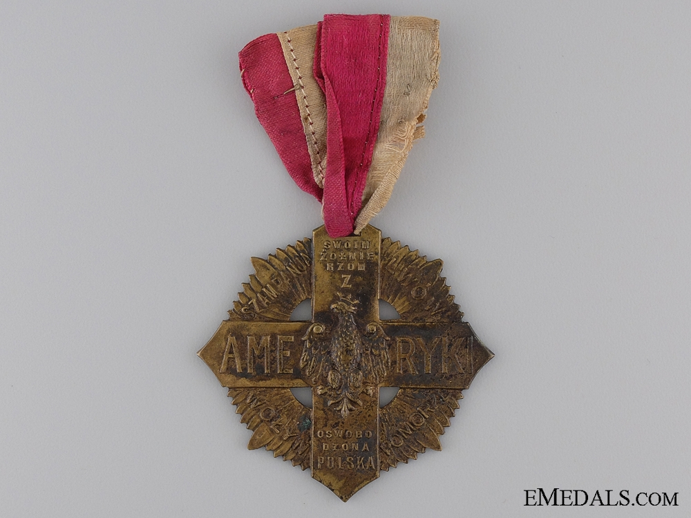 eMedals-A 1920 Polish Soldiers Cross of American Volunteers