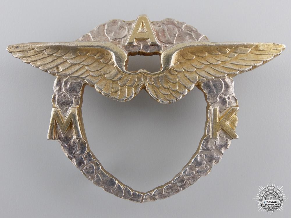 eMedals-A 1920's Czechoslovakian Moravian Aero Club Badge