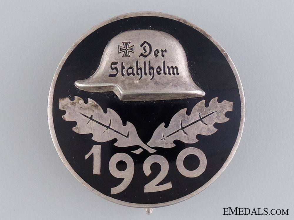 eMedals-A 1920 Stahlhelm Membership Badge