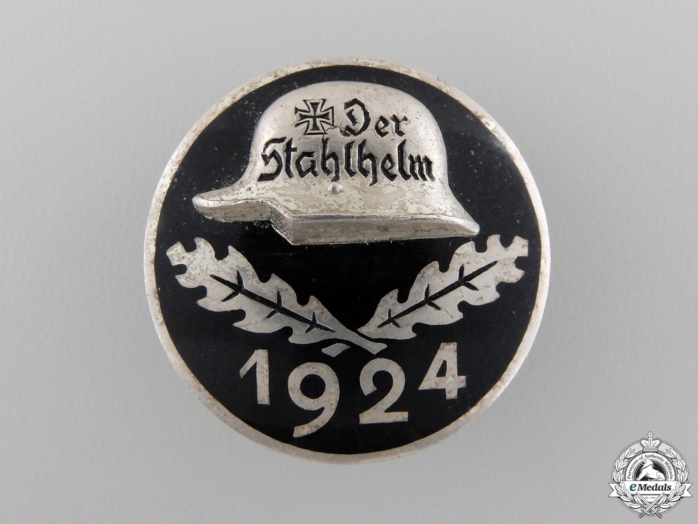 eMedals-A 1924 Stahlhelm Veteran's Badge
