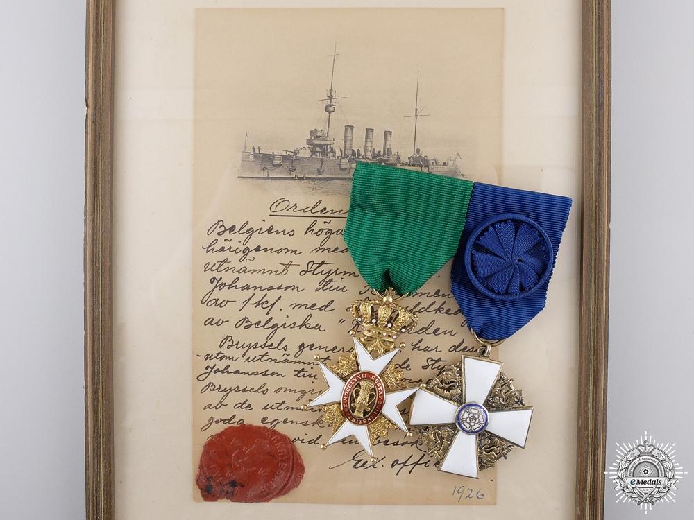 eMedals-A 1926 Gold Swedish Order of Vasa Pair