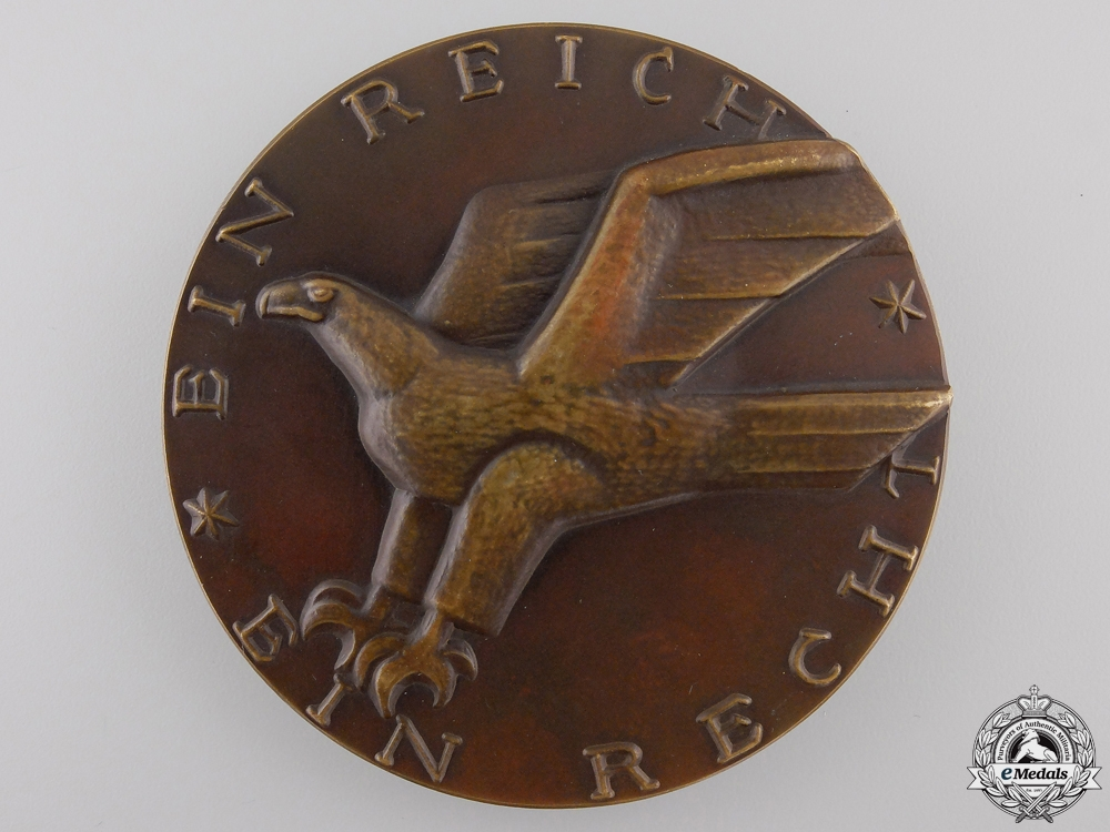 eMedals-A 1929 Fiftieth Anniversary of the Reich Court in Leipzig Medal