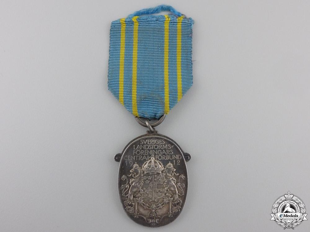 eMedals-A 1929 Silver Swedish Militia Association Medal