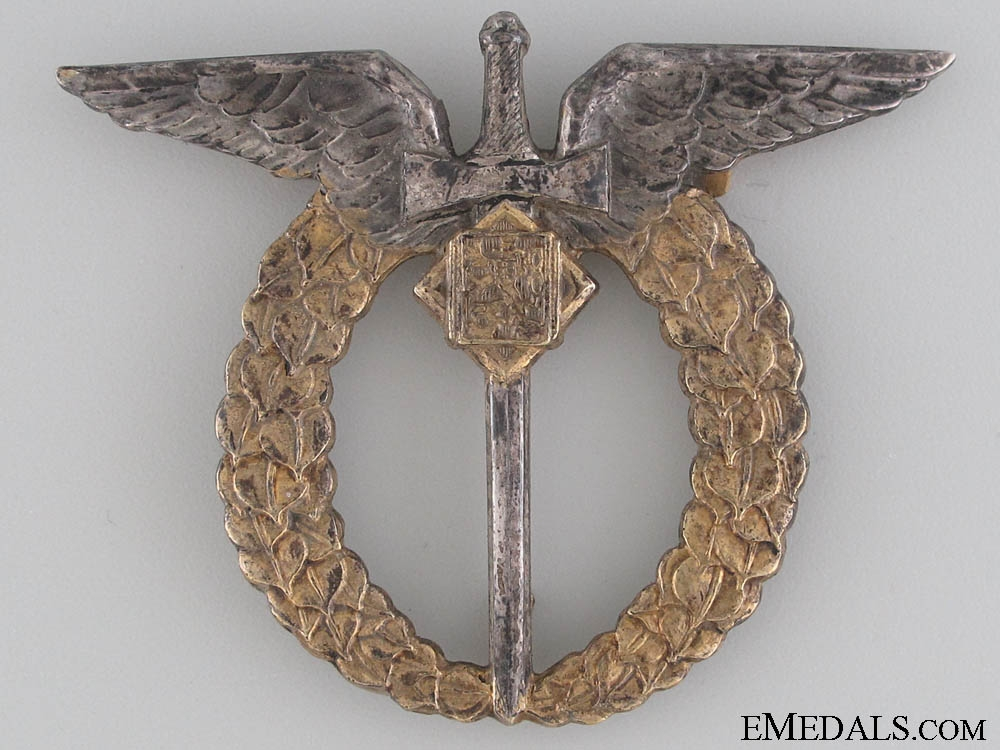 eMedals-A 1930's Czechoslovakian Silver Observer's Badge
