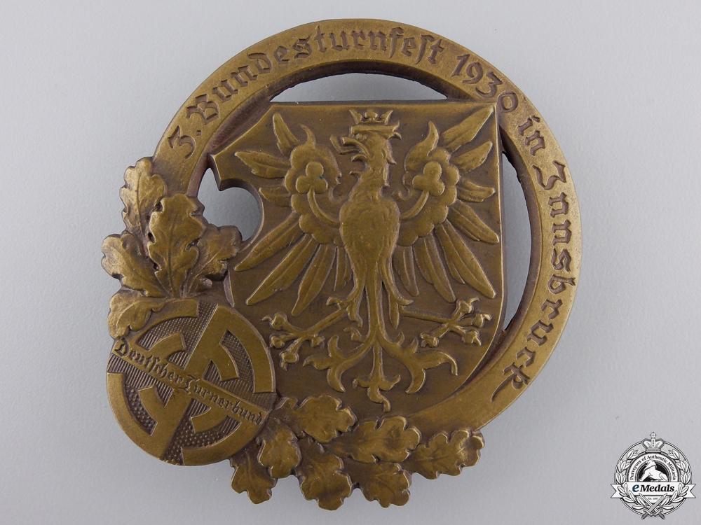 eMedals-A 1930 German Gymnastics Association Badge by J.Schwertner