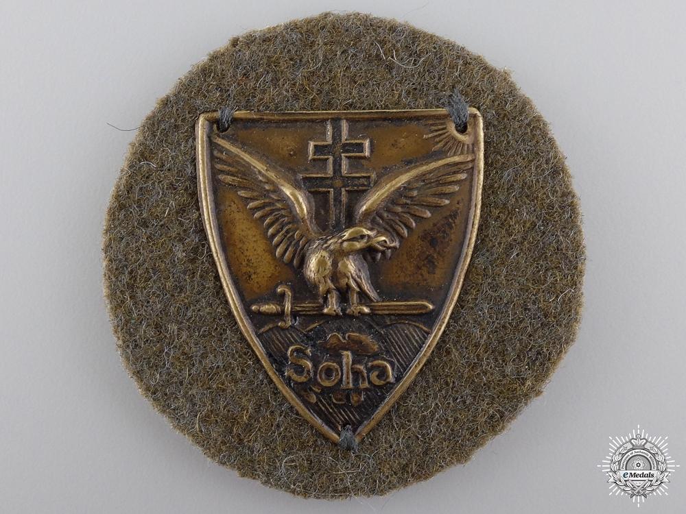 eMedals-A 1930 Hungarian Soha Badge