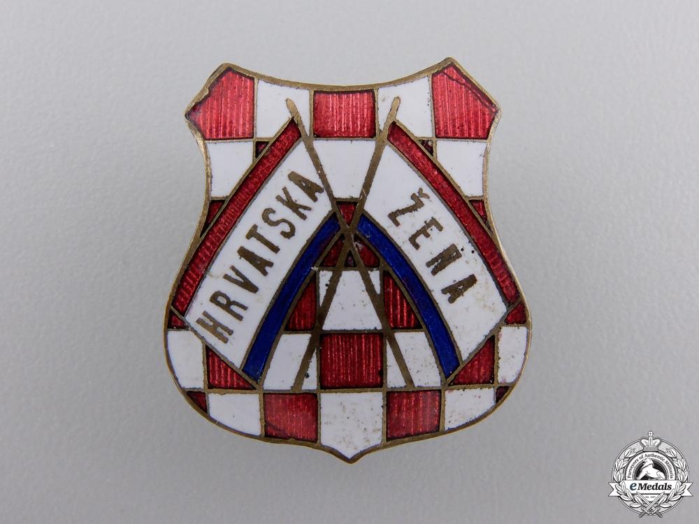 eMedals-A 1930's Croatian Women's Badge