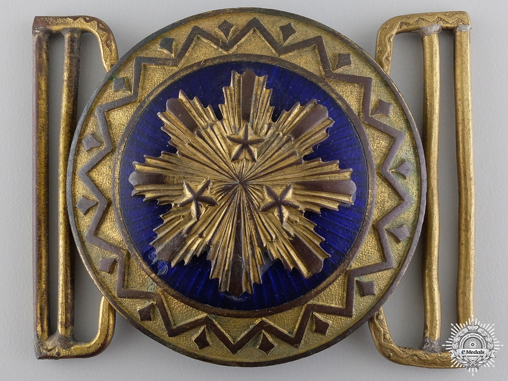 eMedals-A 1930's Latvian Officer's Dress Buckle